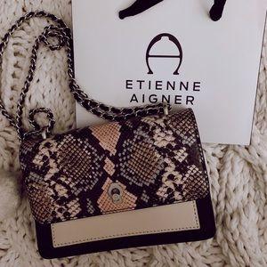Etienne Aigner Lana crossbody handbag Snakeskin